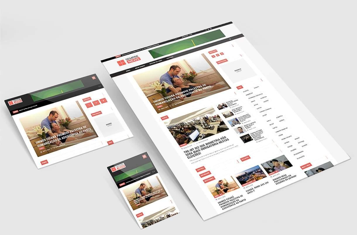 Criação de Site de Sempre News