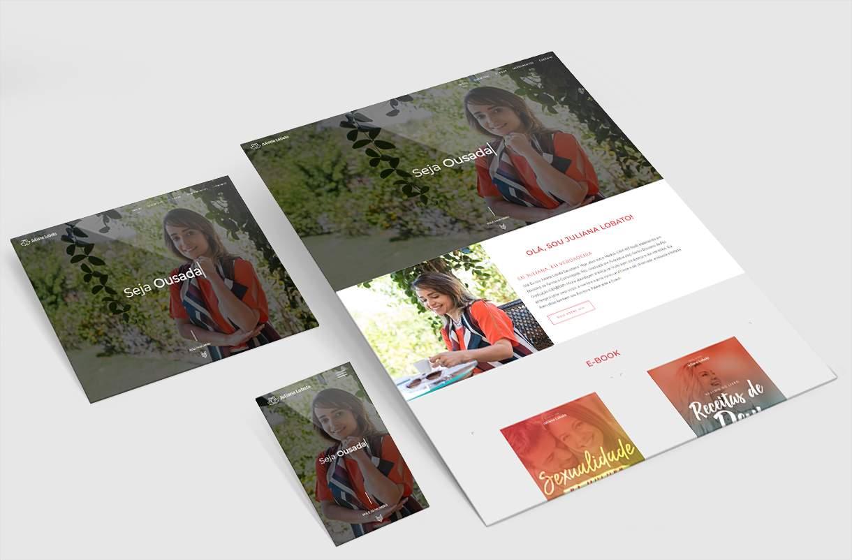 Criação de Site Juliana Lobato